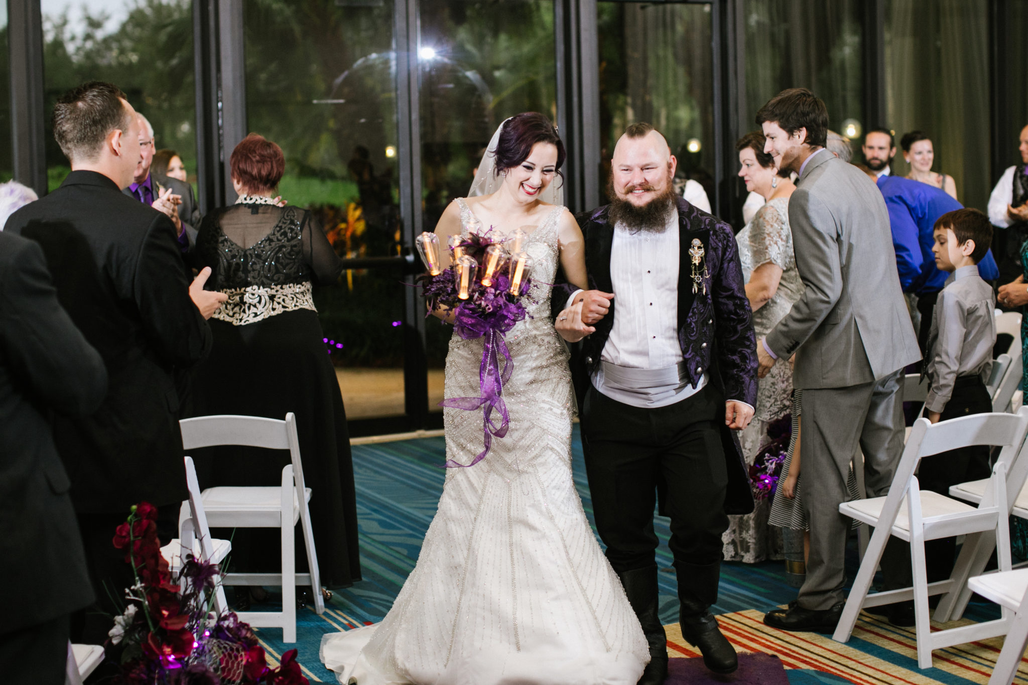 Melissa + Jordan's Punk Rock Orlando Wedding-32
